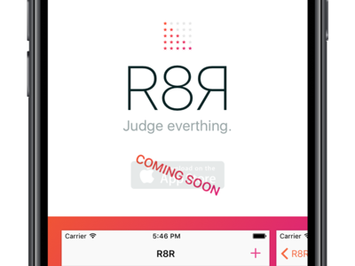R8R Site on Mobile icons mobile gradient website r8r