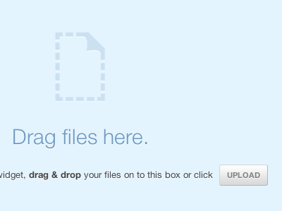 Drag files here drag and drop onehub html5 helveticons blue