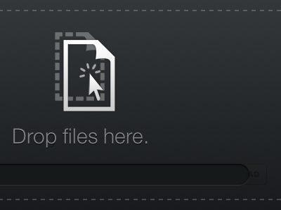 Drop files here onehub html5 helveticons black drag and drop progress progress bar
