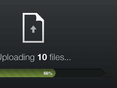 Uploading files... onehub html5 helveticons black drag and drop progress bar green progress