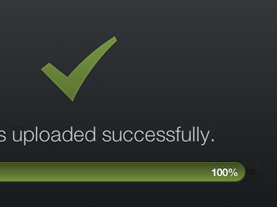 Uploaded successfully onehub html5 helveticons black green drag and drop progress progress bar