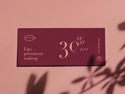 Permanent makeup branding voucher