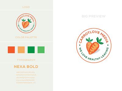 carrot logo design vector food branding business illustration logo design identity logo