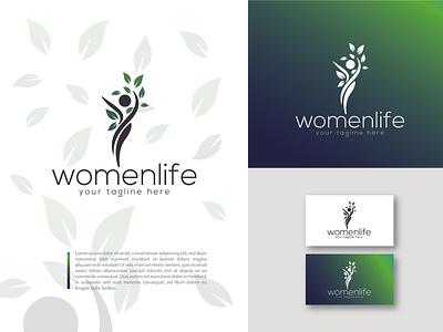 mordern logo design clean icon vector flat identity branding business woman logodesigner logodesign wordpress logomark logo women