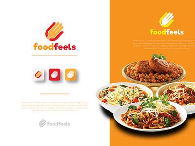 foodfeels logo design logokit logotype logodesigns logodesignersclub logodesigner app logo clean identity branding business foods foodservice foodlogos foodlogo food illustration food and drink food food app foodie