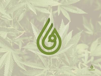 Cbdbird logo web app icon vector typography illustration flat branding business design clean creative bird cbd
