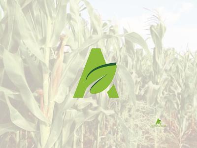 Agriculture Logo art web creative identity app vector illustration icon flat design clean business branding agricultural logo organic organics agriculture business  consulting agriculture