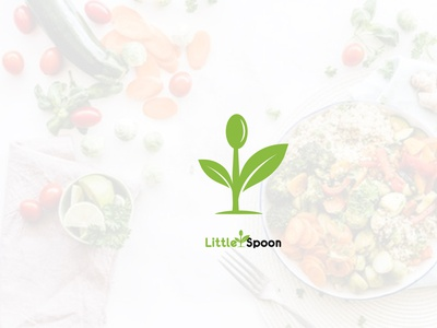 spoon logo design identity clean icon branding vector business foods logos ugraphical logo leaf food spoon