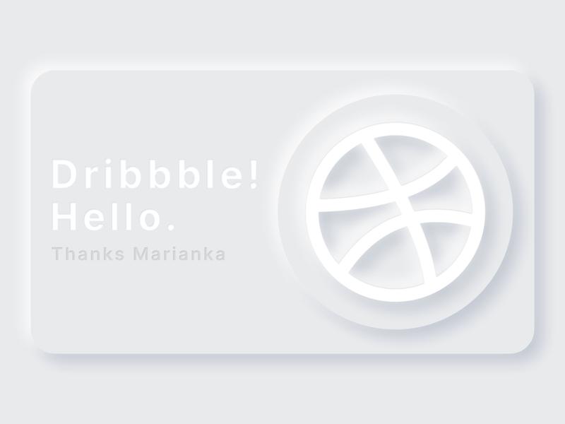 Dribbble! Hello.