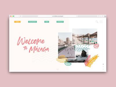 Málaga landing page - DailyUI 003