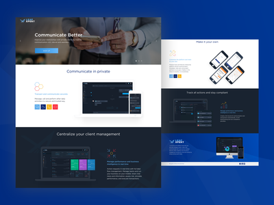LeapXpert Marketing Website chat app chat finance app finance fintech design web mobile app ux ui