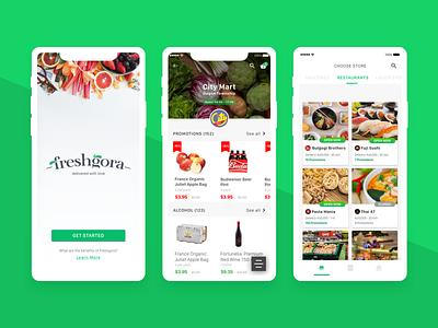 Freshgora - Delivery App design food delivery app delivery mobile app ui ux