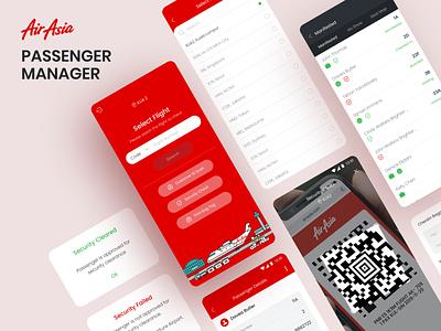 RedAirport - Passenger Manager scanner scan qr tickets manager passenger plane airport airasia mobile app ux design ui