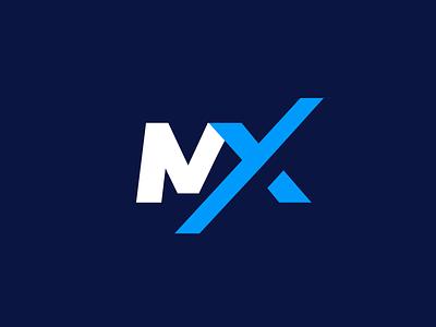 logitec MX flat design vector typogaphy logos minimalist logo font flat design creative minimalist minimal clean logo design logodesign logotype logo brand identity branding black blue