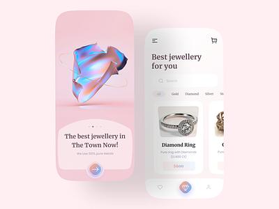 Jewellery App 💎 ecommerce app ecommerce dailyuichallenge jewellery minimalist minimal designer daily ui dailyui website web app design ui design uidesign app branding uiux ux design ui
