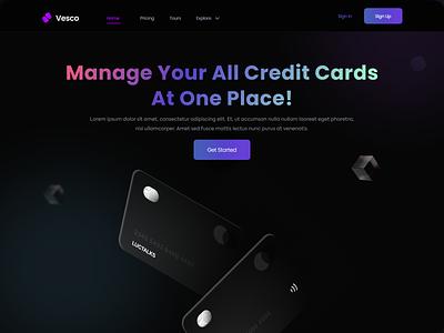Landing Page UI purple daily ui dailyui designer payment dark minimalist landingpage landing page website web clean uidesign app branding uiux ux ui design