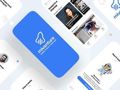 Fintech App mobile finance project blue minimalist minimal designer investment app uidesign app branding uiux ux design ui