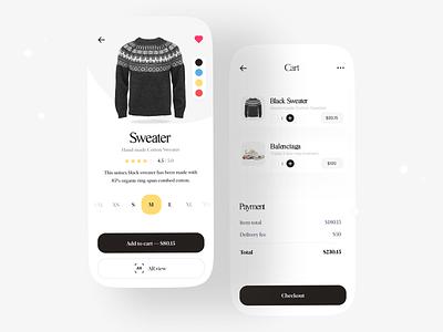 E-Commerce App payment checkout shopping eccomerce minimal minimalist flat ecommerce app store fashion cart delivery app web uidesign app branding uiux ux design ui