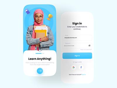Login UI mobile minimalist 3d blue minimal dailyui web sign up register sign in signin login designer uidesign app branding uiux ux design ui