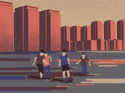 Street game: football