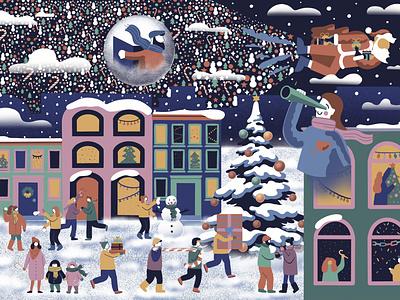 Christmas Card character character design christmas tree christmas card christmas characterdesign poster design digital illustration webdesign procreate branding graphic design digital painting digital art illustration