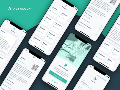 Pharmaceutical Products Catalog - Mobile App Concept