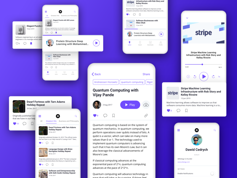 Software Engineering Daily - The Official iOS App clean design app design inspiration user experience uxdesign uidesign mobile app design podcasting podcast ui uxui ux mobile ios application ios app design iosapp iosdesign ios appdesign app