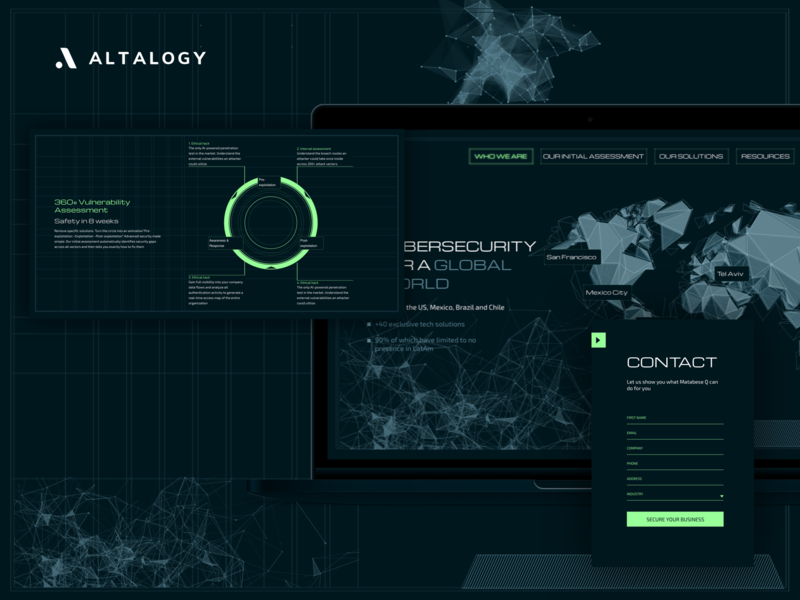 Cybersecurity Company - Landing Page cybersecurity website design inspirational fallout landing page ui landing page concept landing page design landing page branding web design webdesign uxui inspiration ui ux uxdesign uidesign