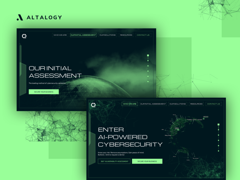 Cybersecurity Company - Landing Page web design security landingpagedesign landing page concept webdevelopment fallout cyber cybersecurity website design ui ux landing page design illustration landing page branding webdesign inspiration uxdesign uidesign