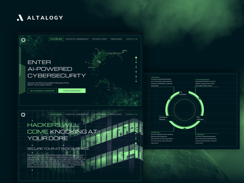 Cybersecurity Company - Landing Page machine learning ai clean design cyber fallout cybersecurity uxui web design website design landing page design landing page branding webdesign inspiration ui ux uxdesign uidesign