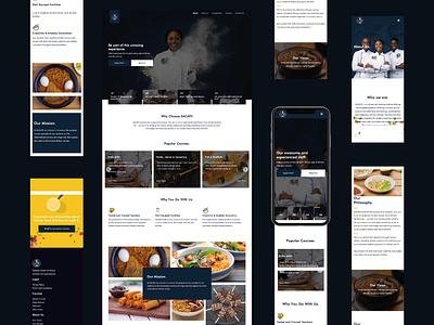 Telande School Of Culinary Arts website cookbook cooking web branding ux ui design