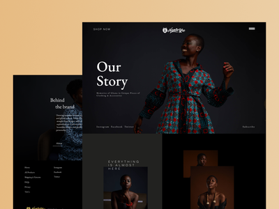 Nante Yie Website clothing fashion shopping ecommerce social ghana ux ui design
