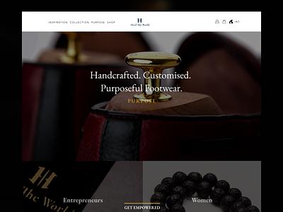 Heel The World ux branding website ecommerce clothing ghana ui design