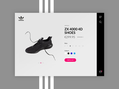 Adidas - Re Design : Daily UI Challenge