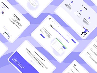 Taskbee landing page ui web webdesign minimal branding uxuidesign landingpage homepage header design
