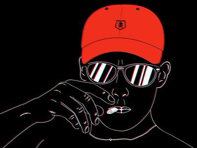 Polo smoke 🔥 boy black visual design visual art graphicdesign uxuidesign vector logo ui minimal illustration