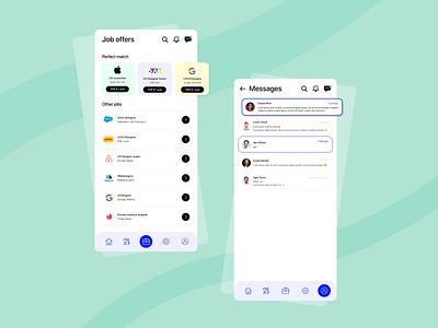 Linkedin 2.0 🦋 social media design social network socialmedia design app professional jobs inbox mobile uxuidesign ux ui design