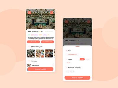 Restaurant Booking App warm colors booking app booking restaurant app restaurant mobile app mobile mobile ui ux ui uxuidesign design