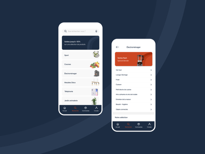 Cdiscount 2.0 category requester search bar search mobile design mobile app mobile branding ux uxuidesign minimal design ui