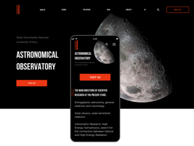 Astronomical Observatory Web Site