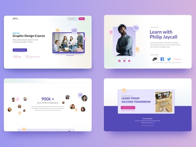 Shaw Academy Redesign colorful clean website education website deal offer education educational uxdesign ux design ui