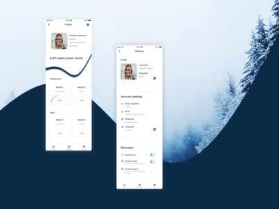 Daily ui 6 & 7 profile and settings