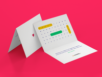 Wedding greeting card - words game