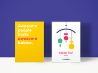 Baby birth greeting card