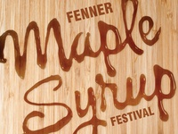 Fenner Maple Syrup Festival Poster 2015