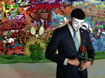 Real Art or Last Stand 3d graffiti guy fawkes guyfaux anonymous anon