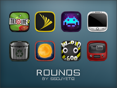 Rounds Presentation Dribbble icons