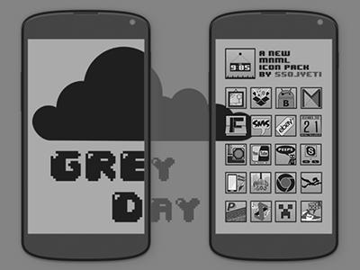 Grey Day Icons icons minimal
