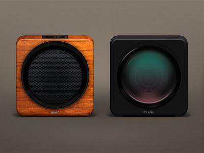 Boom/Flash camera speaker icon