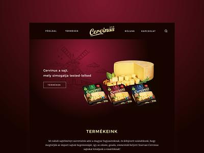 Cervinus - Landing Page Design webdesign design web page landing